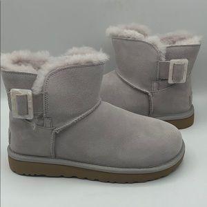 UGG Mini Bailey Feather Fashion Buckle Boot